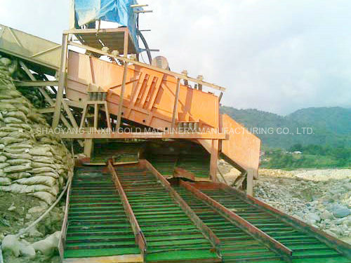 Vibrating-Screen-Chute-Washing-Unit